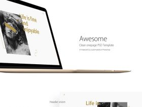 Clean OnePage PSD template