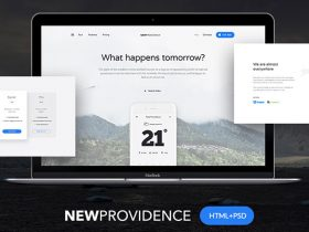 New Providence: Free landing page HTML + PSD