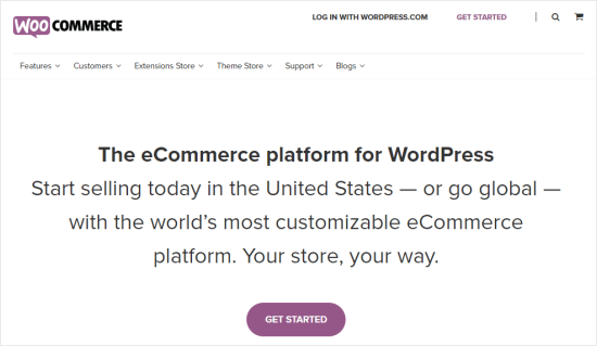The WooCommerce front page