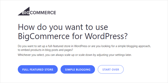 Choose How You Want to BigCommerce for WordPress