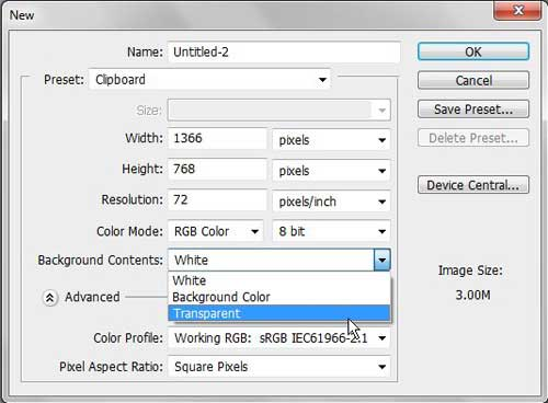 remove the default locked background layer form your Photoshop CS5 image