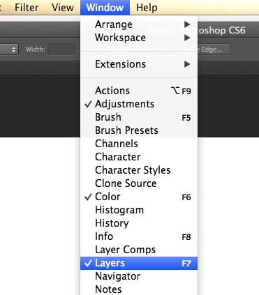 make sure the layers panel is visible
