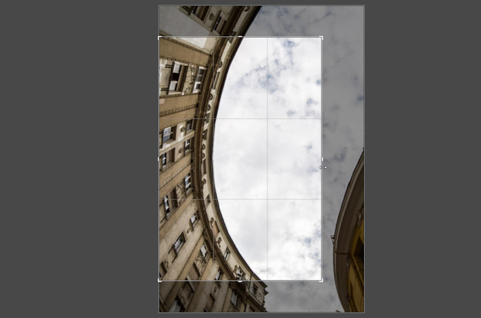 screenshot of editing and cropping an architectural image - the importance of megapixels.