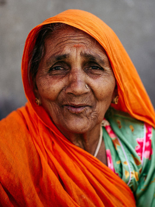 A portrait of an Indian woman