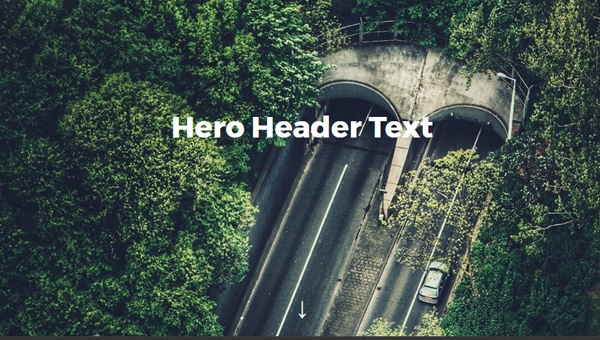 Demo Image: Flexbox Hero Header