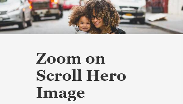 Demo Image: Hero Zoom On Scroll