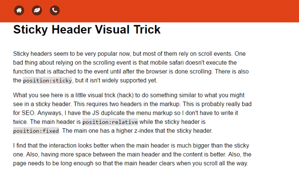 Demo Image: Sticky Header Visual Trick