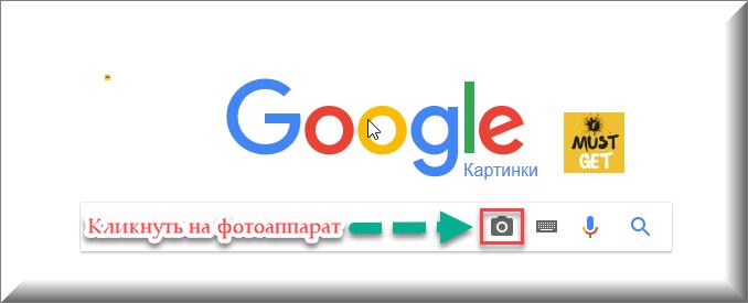 Поисковик гугл с фотоаппаратом для поиска картинки