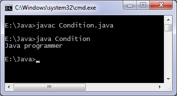 If else java program
